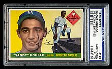 1955 Topps #123 Sandy Koufax autographed Rookie card (PSA/DNA) (Sig. NM, Card EX)