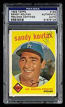 1959 Topps #163 Sandy Koufax autographed card (PSA/DNA) (Sig. EX/MT-NM)