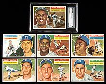1956 Topps near complete set including both checklists.