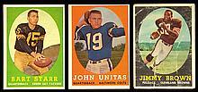1958 Topps football complete set (132 cards) (Avg. VG)