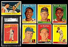 1958 Topps near complete set with graded Mantle.