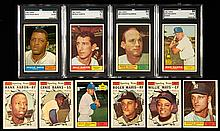 1961 Topps Baseball near complete set including graded Hall of Famers.