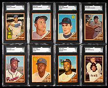 1962 Topps Baseball card set including variations and graded Hall of Famers.
