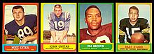 Very sharp 1963 Topps football complete set (170 cards) (Avg. EX/MT or better)