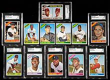 1966 Topps near complete set including graded Hall of Famers.