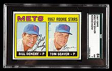 1967 Topps #581 Tom Seaver rookie card graded SGC 84 (NM).