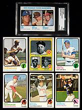 1973 Topps Baseball card set with graded Schmidt rookie.