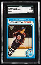 1979-80 Topps #18 Wayne Gretzky rookie card graded SGC 88 (NM/MT).