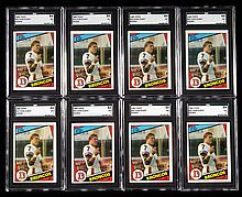 Lot of (22) graded 1984 Topps #63 John Elway rookie cards.