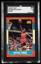 1986-87 Fleer #57 Michael Jordan graded SGC 84 (NM).
