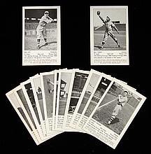 Lot of (13) 1932 New York Giants schedule postcards (Avg. EX)