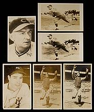 Lot of (34) 1937-39 Orcajo Cincinnati Reds postcards - near set incl. Joe DiMaggio (Avg. GD)