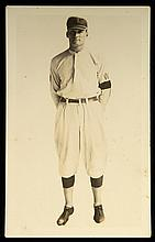 c.1924-25 Walter Johnson real photo postcard (VG, mark on back)