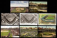 Lot of (68) West Side Ball Grounds and Wrigley Field postcards c.1910s-70s.