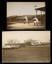 Lot of (2) c.1908 New York Highlanders photographs (EX-EX/MT)