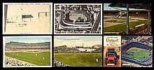 Lot of (64) c.1910s-70s Navin Field and Briggs Stadium postcards plus c.1920 photo (GD-EX/MT)