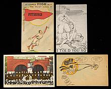 Lot of (4) c.1909-1914 Pittsburgh Pirates related postcards incl. team image with Wagner (GD-VG)