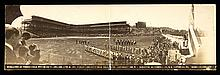 1909 Forbes Field Opening Day panoramic postcard (VG)