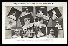 1908 Pittsburgh Pirates postcard featuring Wagner and Clarke (GD/VG)