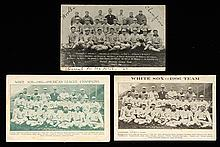 Lot of (3) 1906 Chicago White Sox team photo postcards (FR-GD/VG)
