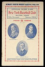 1904 New York Giants scorecard with Mathewson and McGraw on cover (GD/VG)