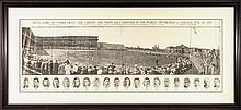 Very rare 1909 Inaugural Game at Forbes Field panoramic supplement.