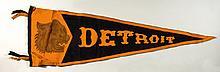 Fine early Detroit Tigers souvenir pennant c.1910s.