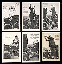 1908-1910 Brush Detroit Tigers postcards near set (6 of 10).