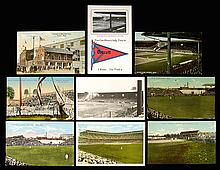 Lot of (9) Detroit Tigers and Navin Field postcards c.1910-20s.