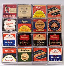 Collection of vintage baseballs and original boxes c.1910-60s.