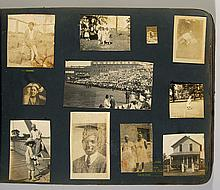 Fine photographic scrapbook with African American content incluiding 1919 World Series subjects.