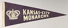 Rare Kansas City Monarchs souvenir pennant c.1940s.