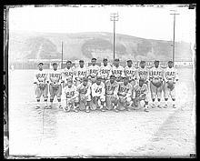 Late 1930s Homestead Grays team photo glass plate negative (EX)