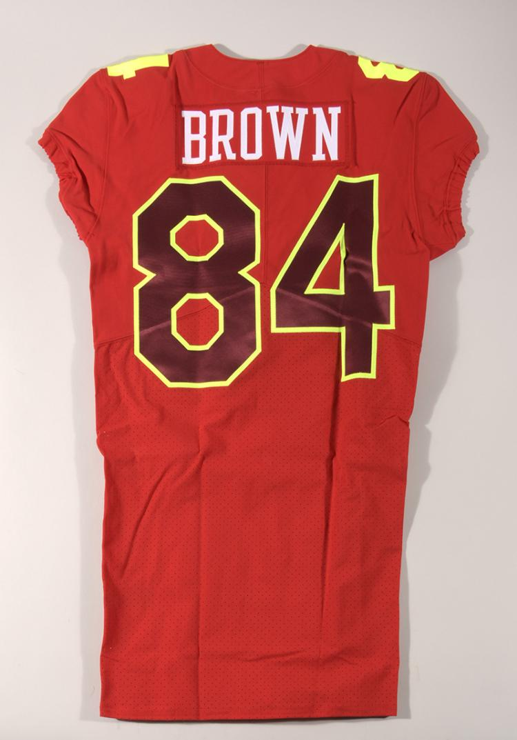 f5d48166d ... shopping lot 44a antonio brown 2017 game issued pro bowl jersey. ef0e6  a610e