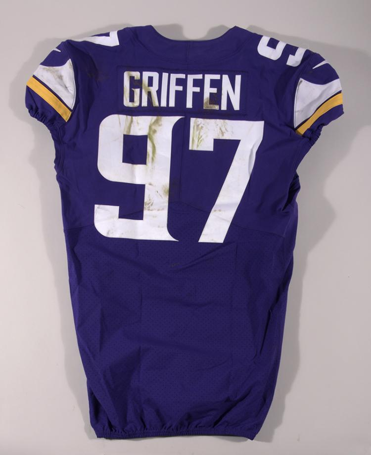 10/29/2017 Everson Griffen game worn Minnesota Vikings jersey