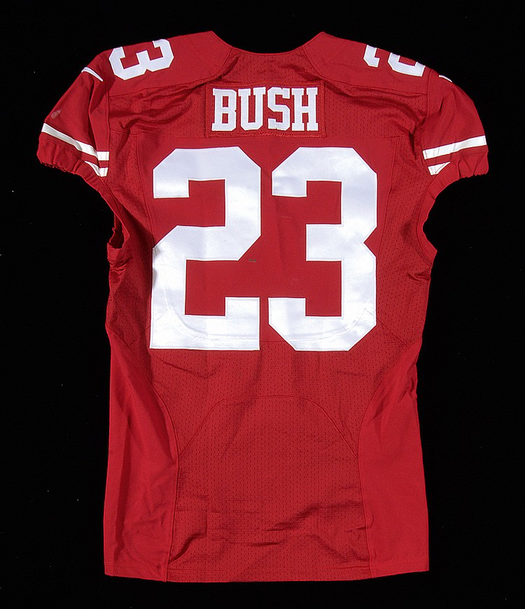 Reggie Bush 10/4/2015 game worn San Francisco 49ers jersey