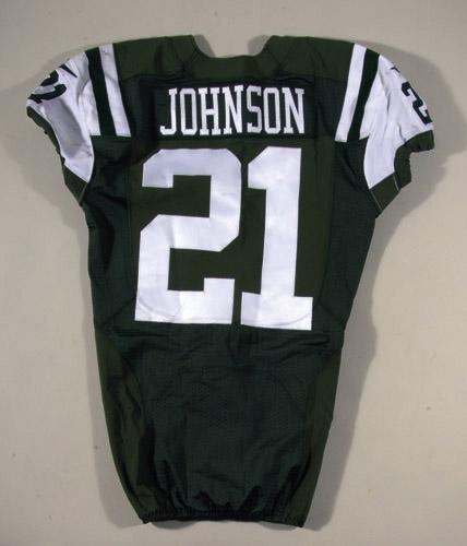discount 90da5 32690 Chris Johnson game worn New York Jets jersey (11/9/2014 ...