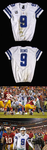 best service 1b1f5 89a2d 2012 Tony Romo game worn Dallas Cowboys jersey