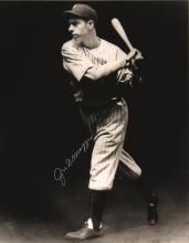 Joe DiMaggio autographed Charles Conlan photograph. Choice large format photograph originally used on the cover of the September 1937 issue of Baseball Magazine. It was printed in very limited numbers in the 1990s (this example hand numbered 55/56)