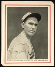 Dizzy Dean c.1930s autographed Baseball Magazine publication photograph. Large format black and white image appearing on interior side of front cover has been signed in period fountain pen,