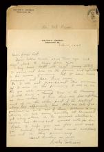 1940 Walter Johnson handwritten and signed letter. Full page letter dated Feb. 15, 1940 and written on his personal stationery has been signed at the close,