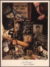 Joe DiMaggio autographed limited edition poster with
