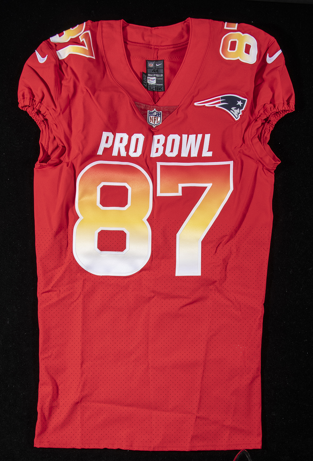 new products 7a49a d41e9 Rob Gronkowski 2018 game issued Pro Bowl jersey.