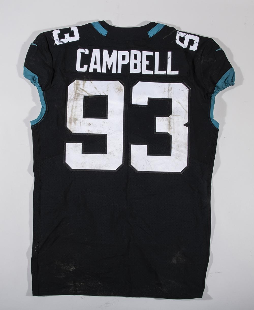 release date e0e36 10a86 10/28/2018 Calais Campbell game worn Jacksonville Jaguars ...