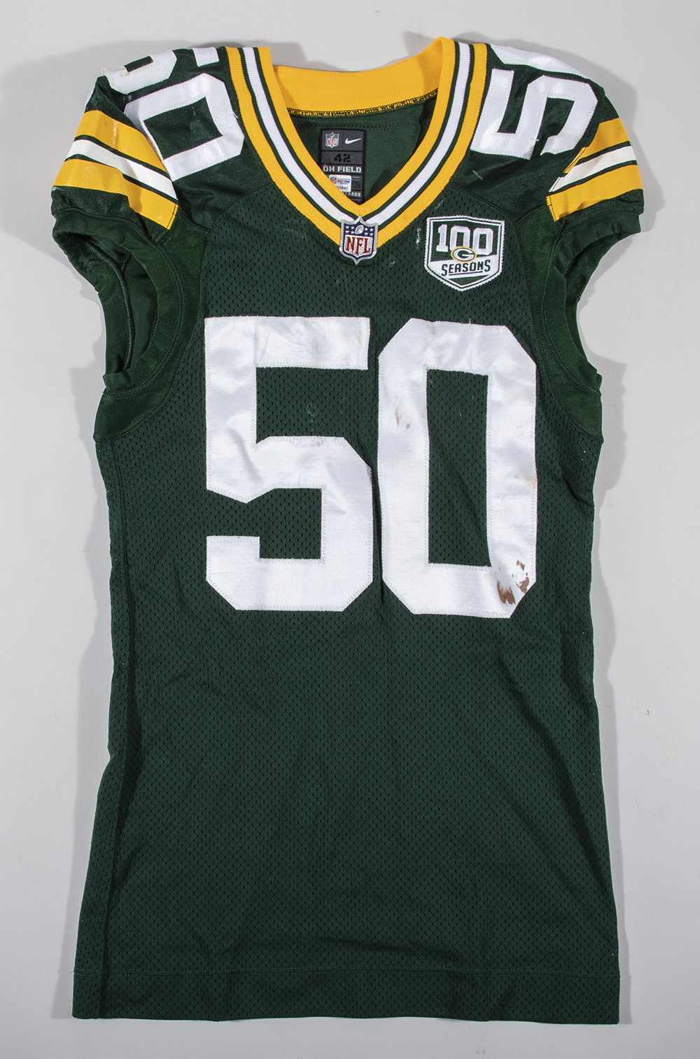 first rate d6a33 68dbf 11/11/2018 Blake Martinez game worn Green Bay Packers jersey.