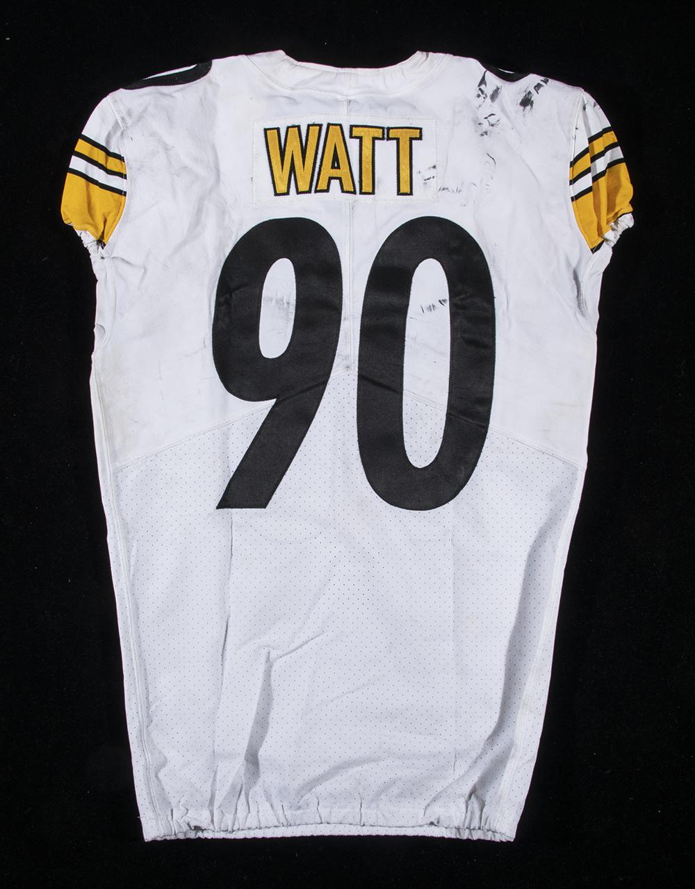 wholesale dealer 48412 a0780 12/4/2017 T.J. Watt game worn Pittsburgh Steelers jersey.