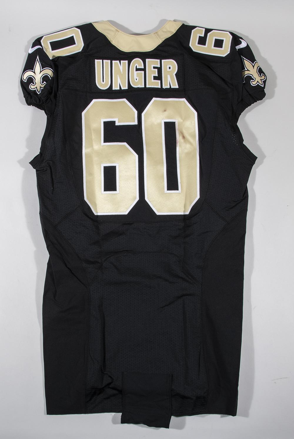 Max Unger game worn New Orleans Saints