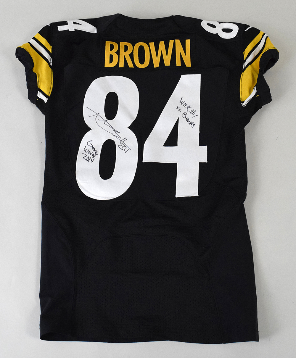 more photos 084c9 1f838 Antonio Brown autographed Pittsburgh Steelers professional ...