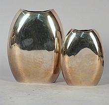 2 Continental Silver Vases