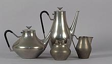 Reed & Barton Art Deco Pewter Coffee & Tea Service